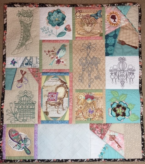 Sewing Room Wall Quilt From Anita Goodesign Threads