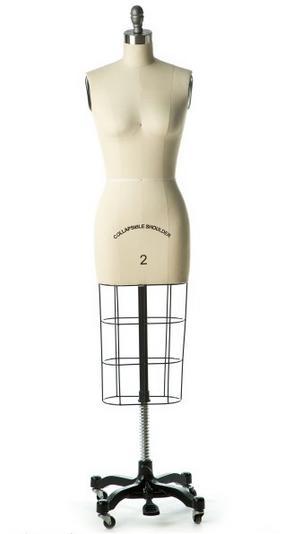 PANACHE 8-Part Adjustable Dressmakers Dressform Large Grey