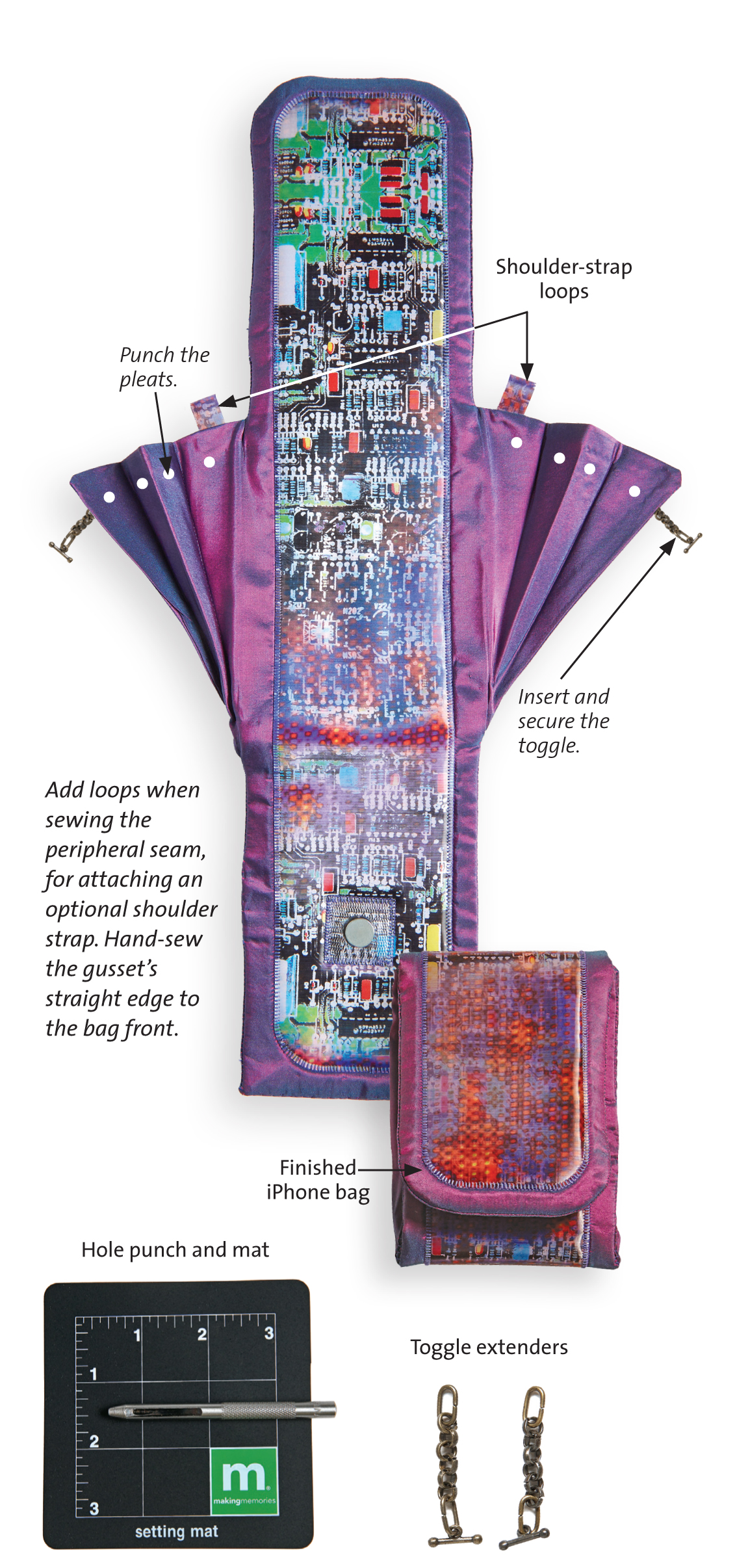 how to sew a cell phone bag for your iphone or other smartphone