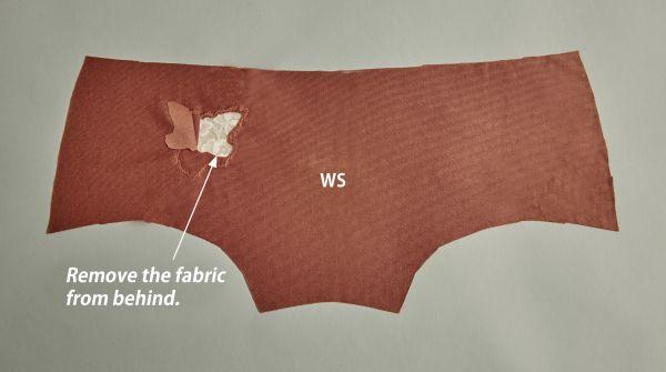 Trim the panty fabric