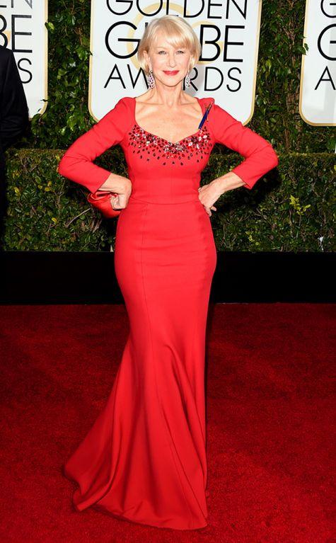 Helen MIren at Golden Globes