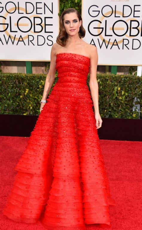 Allison Williams at Golden Globes