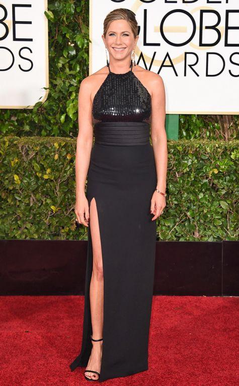 Jennifer Anniston, Saint Laurent, Golden Globes