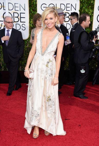 Sienna Miller at Golden Globes