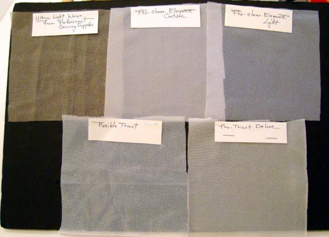 underlining with fusible interfacing threads