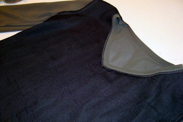 pleated top wrong side