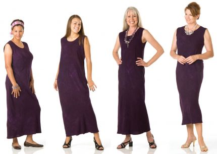 Bias-cut dress on four women