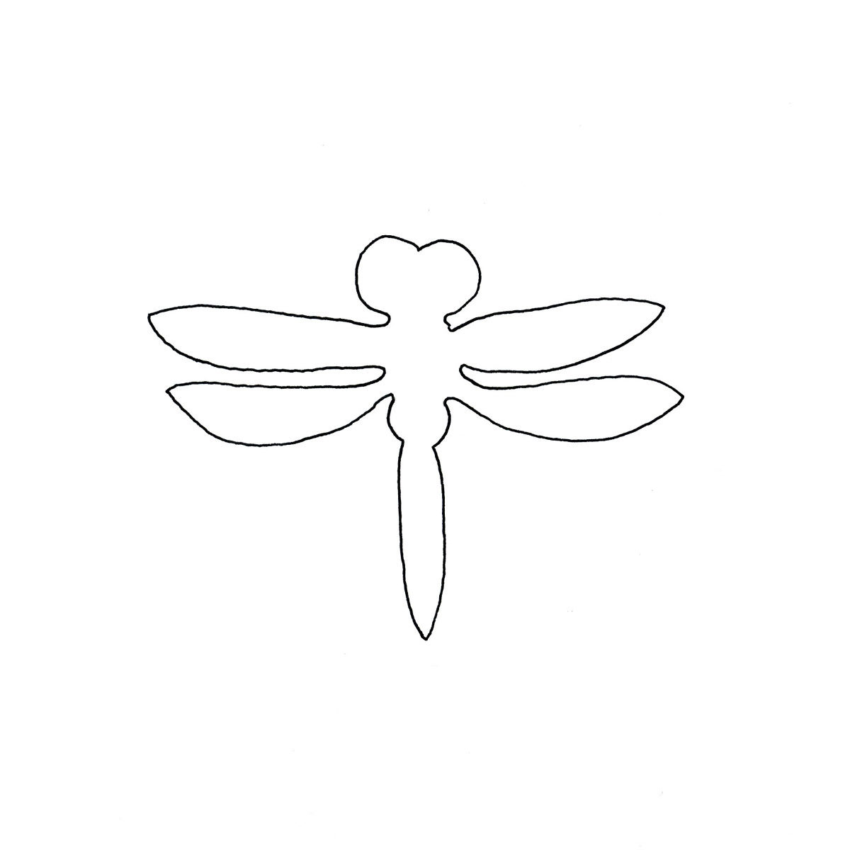 print your free dragonfly stencil template threads