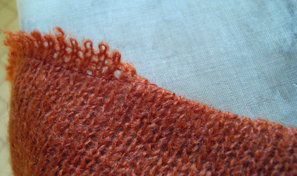 Knitting A Sweater Neckline : How to sew a sweater using knitted fabrics threads