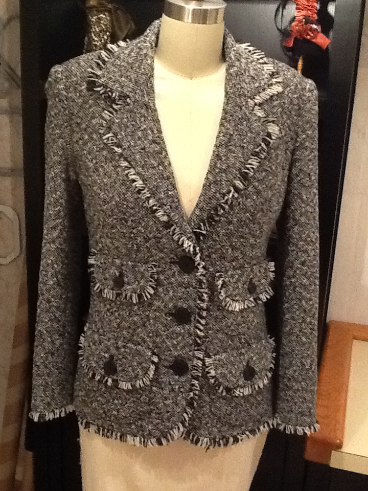 Couture Jacket with fringed edges