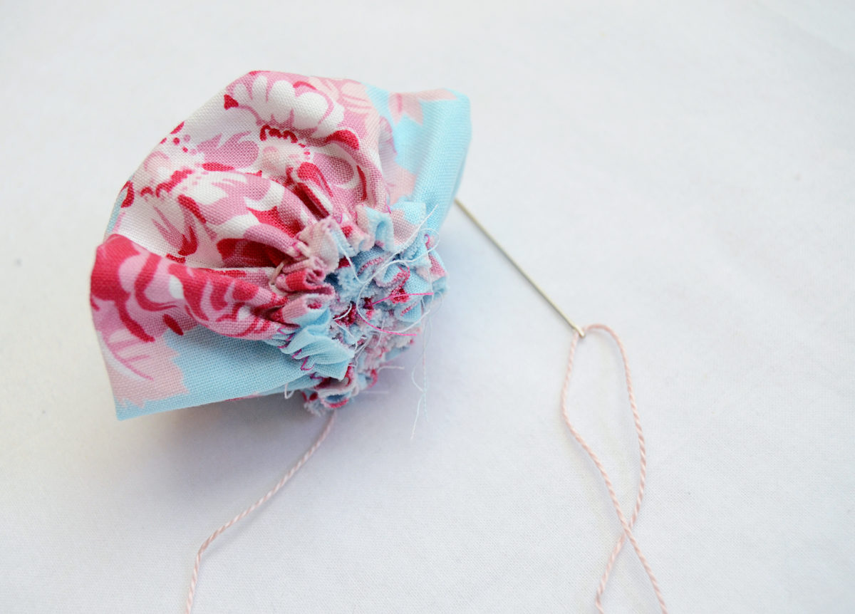 How to Make a Fabric Rosette - Threads