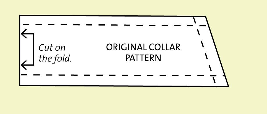 Half Collar Pattern Piece