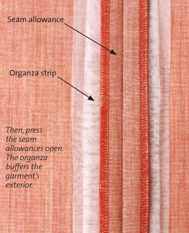 make padded seams to prevent seam allowance impressions threads