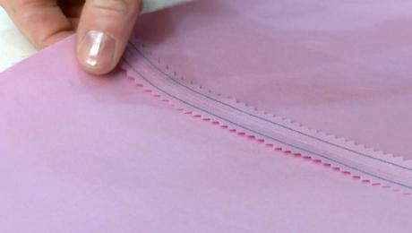 Stitched and Pinked Seam
