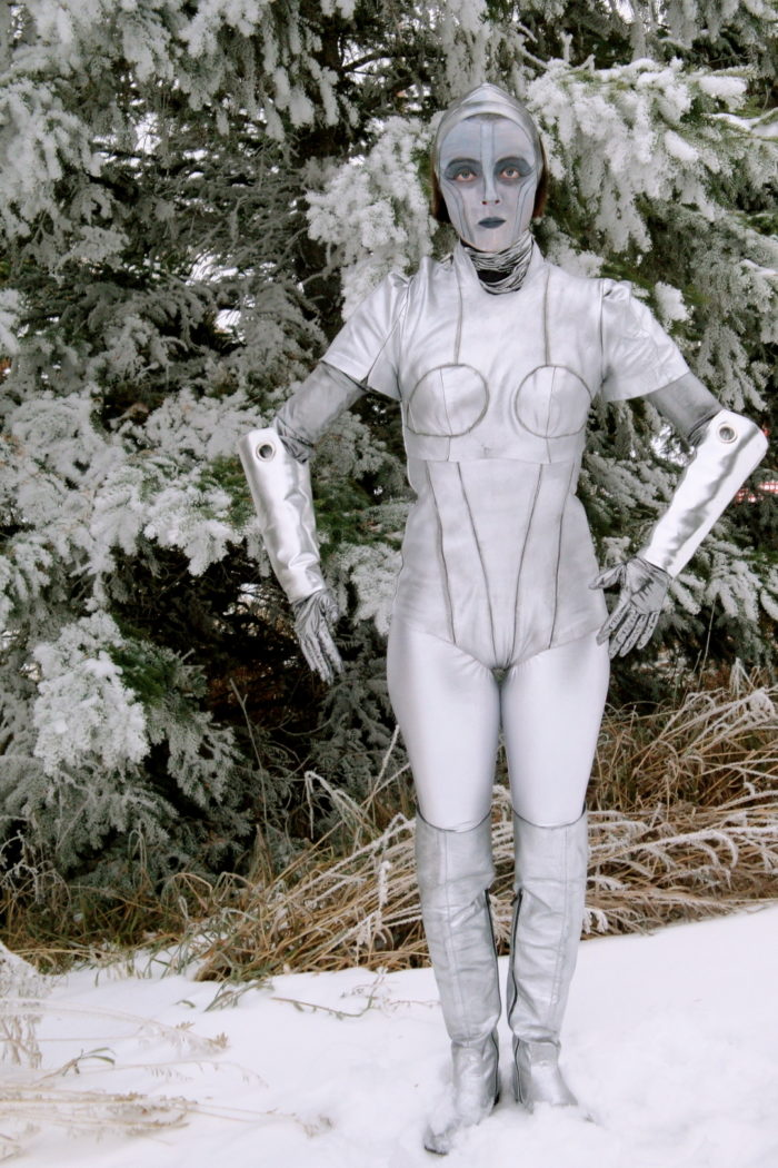 I decided that I wanted to challenge myself this Halloween so I choose to make a costume based off of the female robot from the 1927 film Metropolis.  sc 1 st  Threads Magazine & Metropolis Robot Costume - Threads
