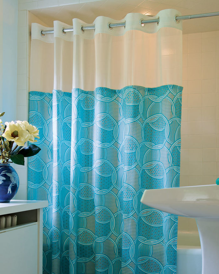 A Simple Row Of Snap Tape Makes This Shower Curtain Easy To Swap Out Design Updating Your Bathroom Decor And Just Throwing The Into