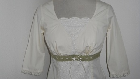e1e35393517 Heirloom inspired blouse with lace trim - Threads
