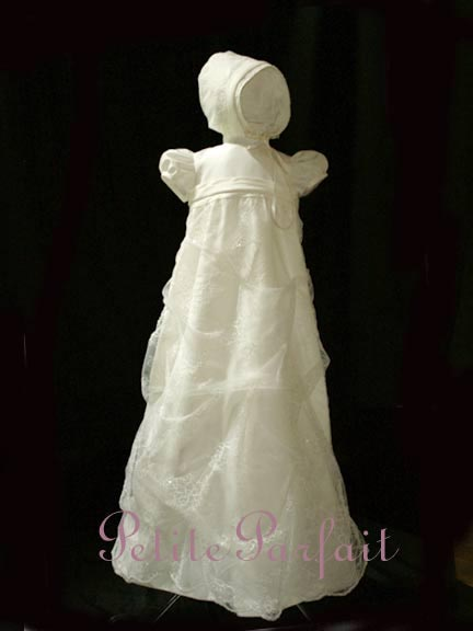 Gorgeous Wedding Gowns transformed to Heirloom Christening Gowns ...