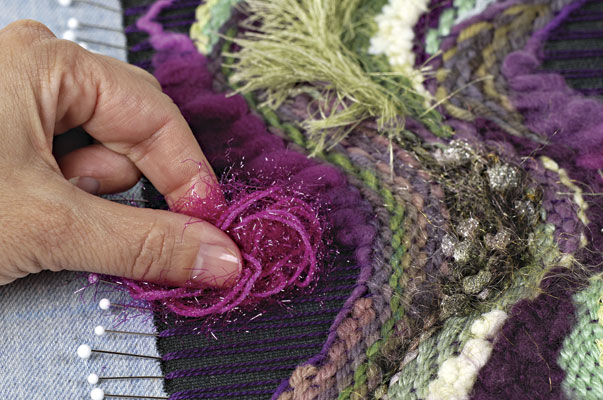 Create Intricate Fabric With Pin Weaving Threads