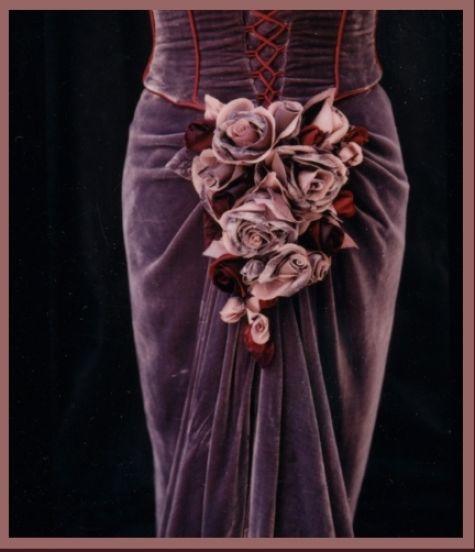 Floral bustle