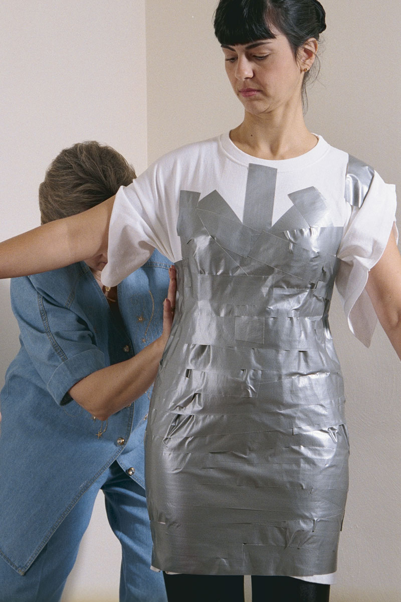 Quick and easy duct tape dress form threads for Custom dress shirts app