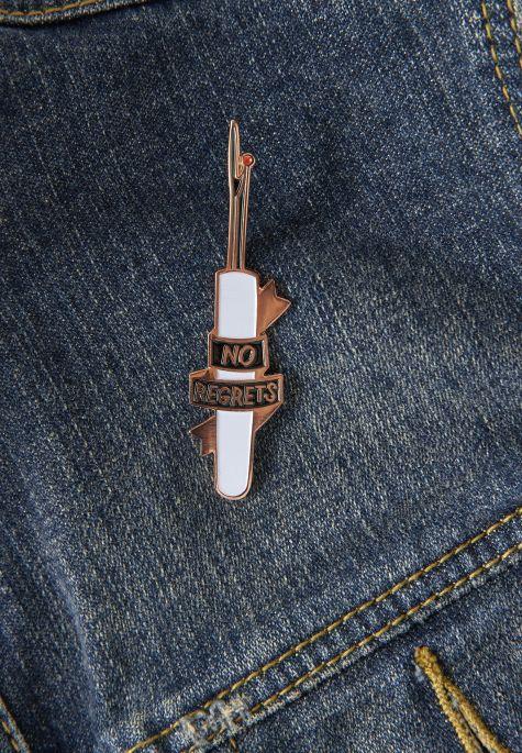 close up of pin
