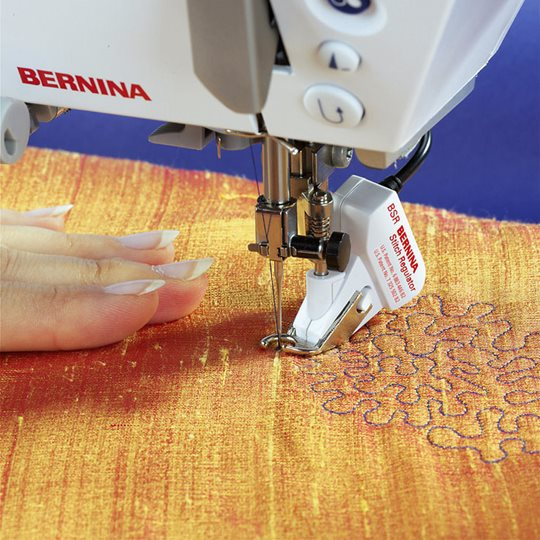 Bernina BSR stitch reulator featured in Threads Magazine