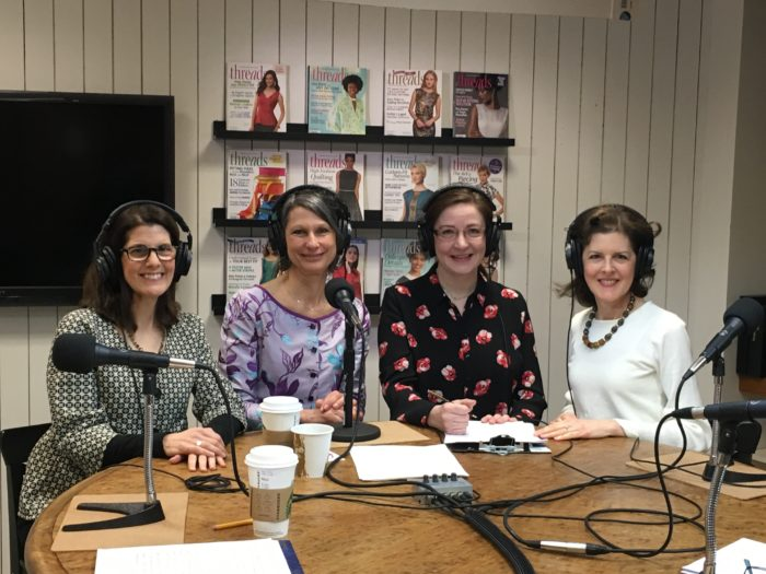 Threads magazine editors with Sarah Veblen for Episode 3 podcast