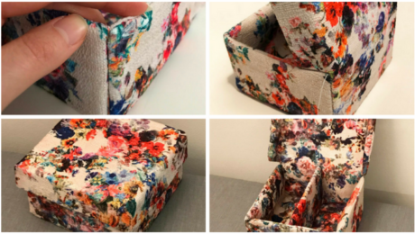 How to make a fabric keepsake box by Threads Magazine