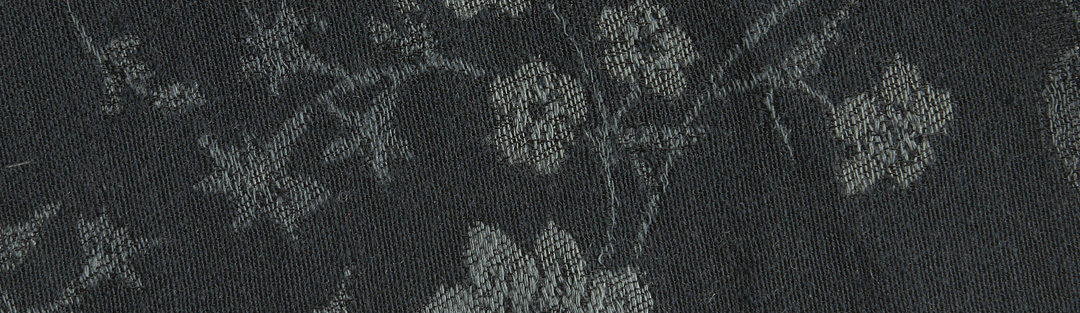 Forest green floral jacquard wool