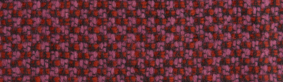 Pink/red/black tweed wool