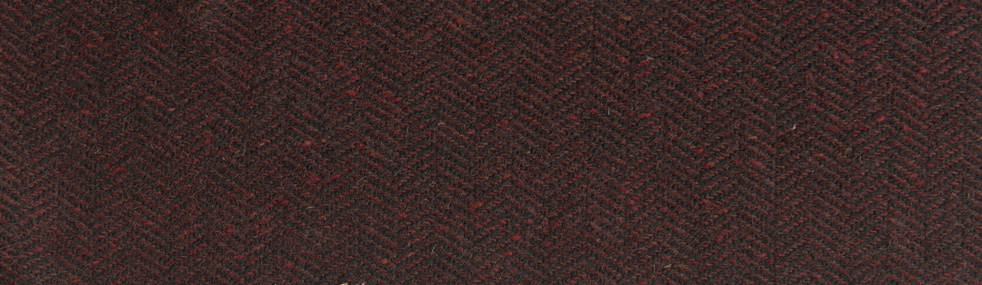 Red/black herringbone tweed wool
