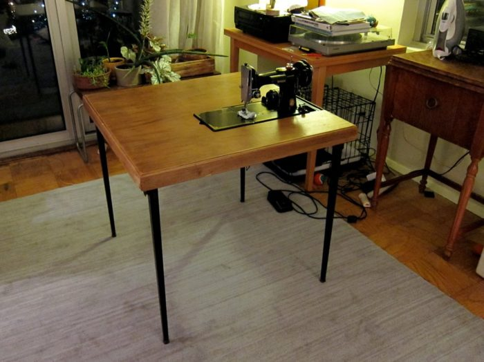 Refinished Featherweight folding table