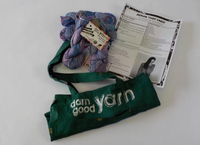 Darn Good Yarn Zephyr Tides Cardi kit