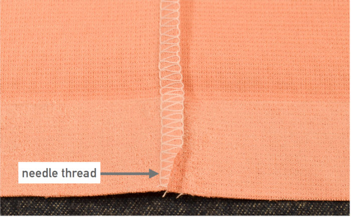Don't trim needle thread.
