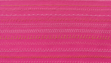 the straight stitch and the zigzag