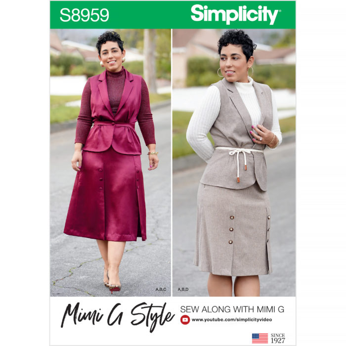 Simplicity 8959 vest and skirt