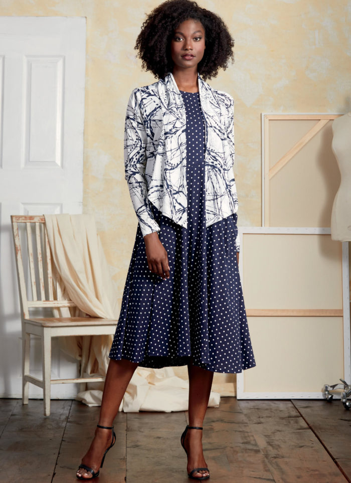 Vogue 9358 dress and jacket ensemble