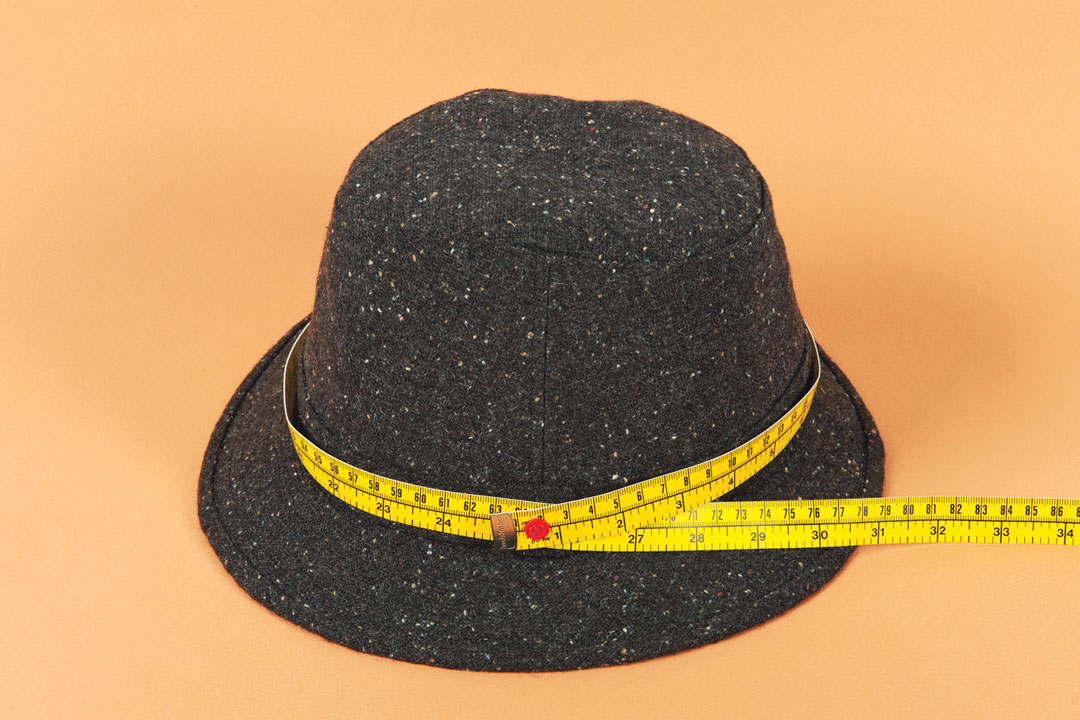 Measure the hat's circumference.
