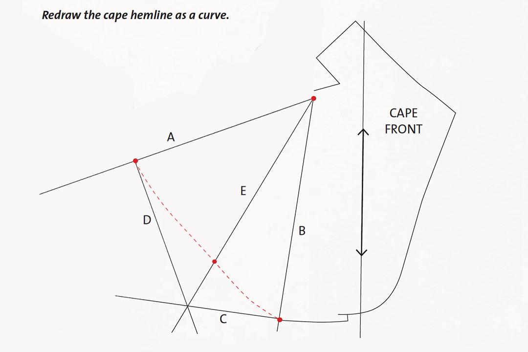 Curve the side hem edge.