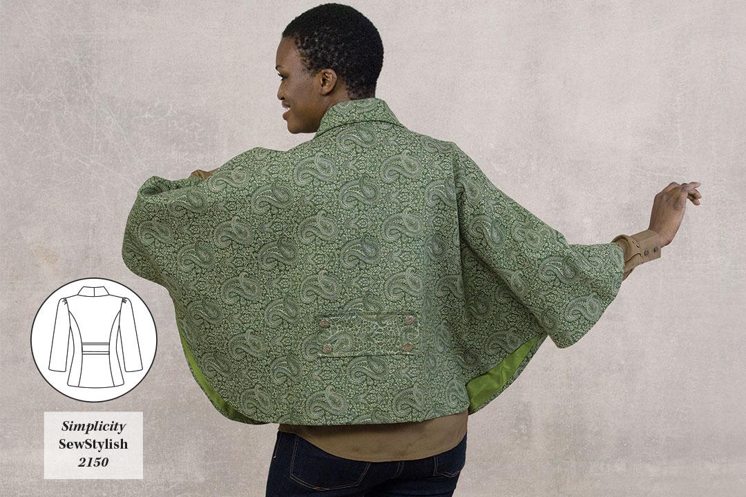Convert the jacket back pattern.