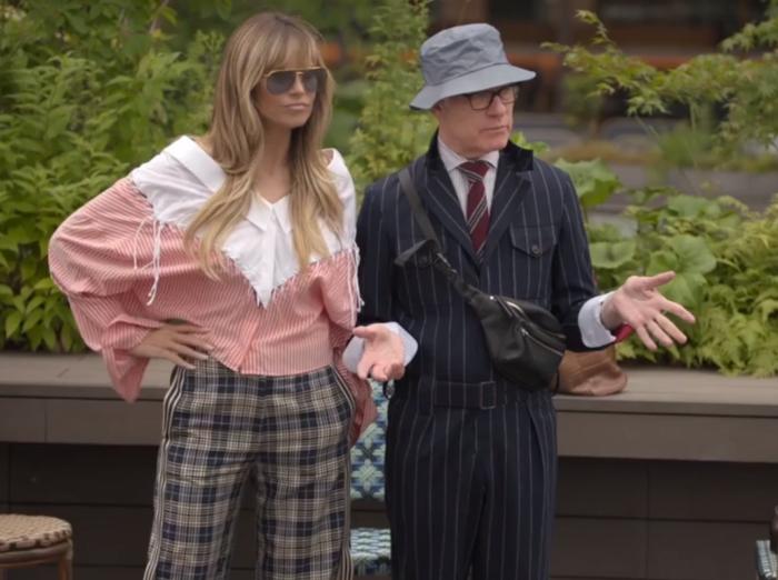Making the Cut Amazon series hosts Heidi Klum and Tim Gunn in streetwear