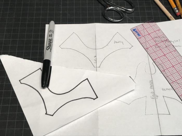 Copy of panty portion of blouse pattern