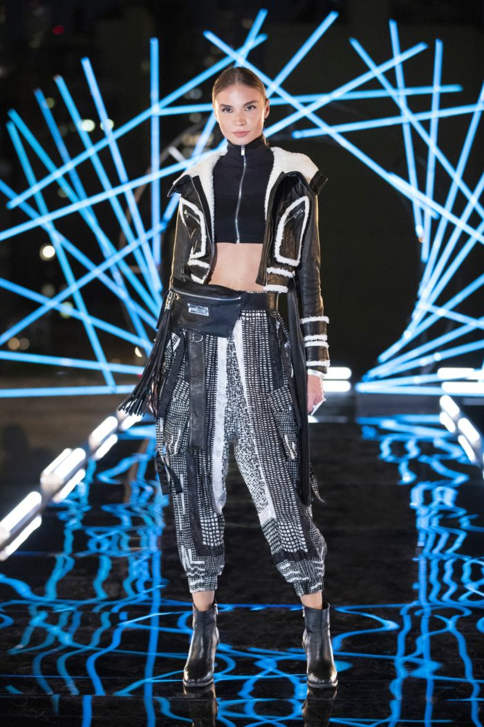 """A Jonny Cota design on the runway in Making the Cut's """"The Next Global Brand"""" episode"""