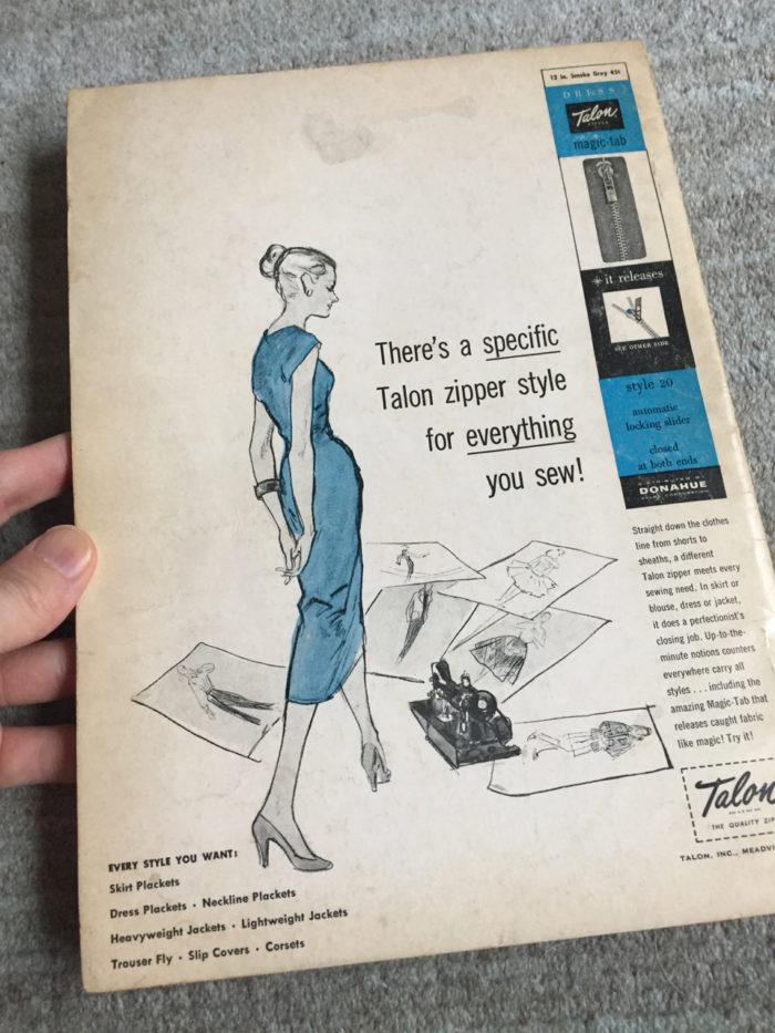 Old Talon zipper ad aimed at women