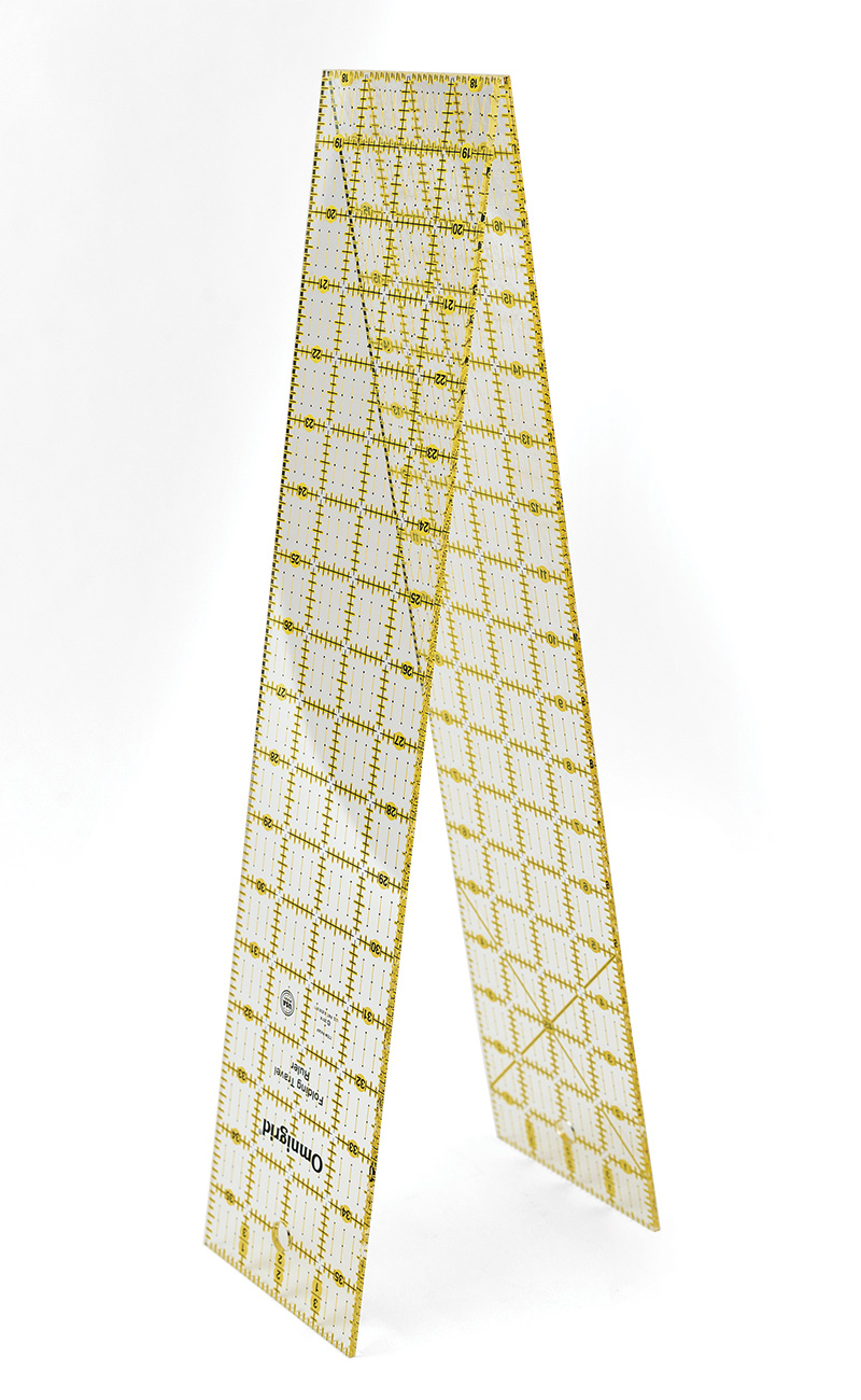 Omnigrid folding ruler