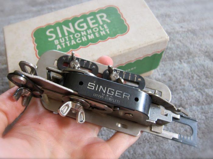 Vintage Singer buttonholer sewing tool