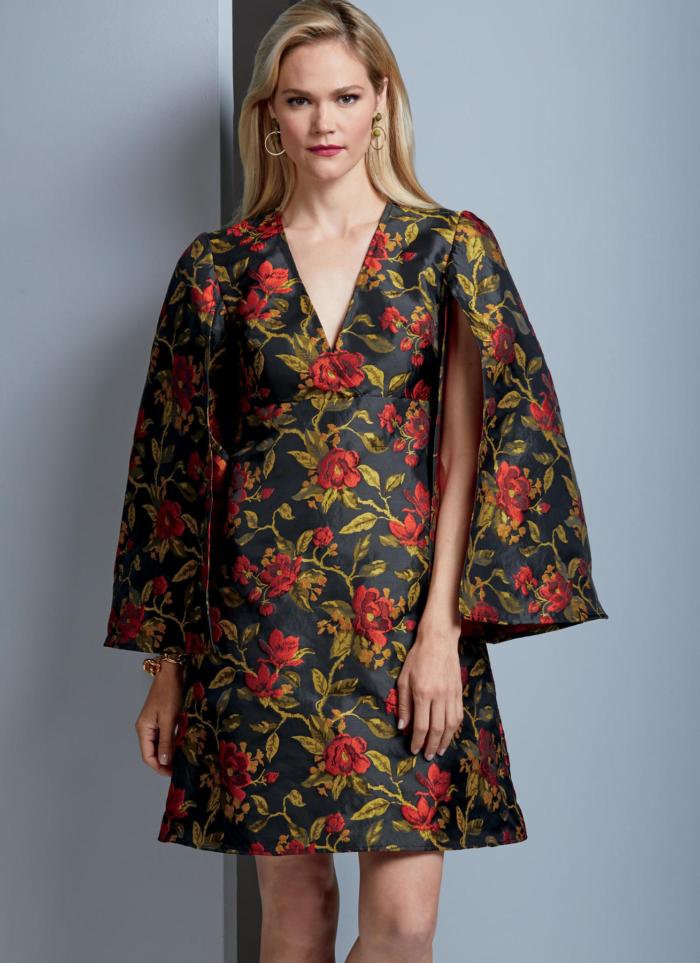 Vogue 9344 dress for brocade and jacquard