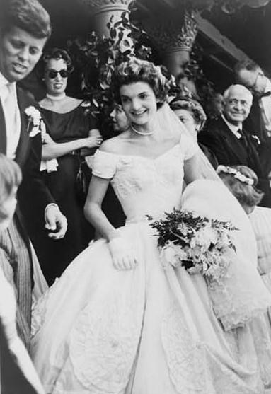 Jacqueline Kennedy's wedding dress, designed by Ann Cole Lowe.