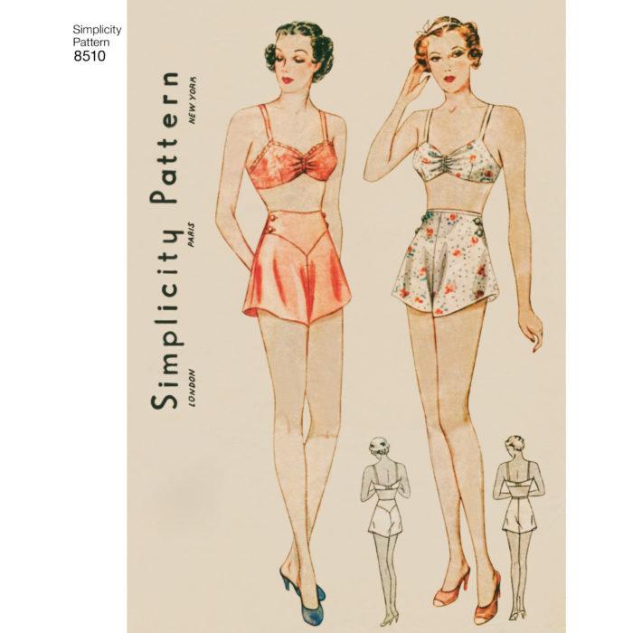 Simplicity 8510 lingerie pattern